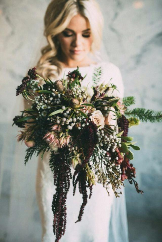 Winter-Wedding-Bouquet-Gothic-Rustic-Deep-Berry-weddingsonline