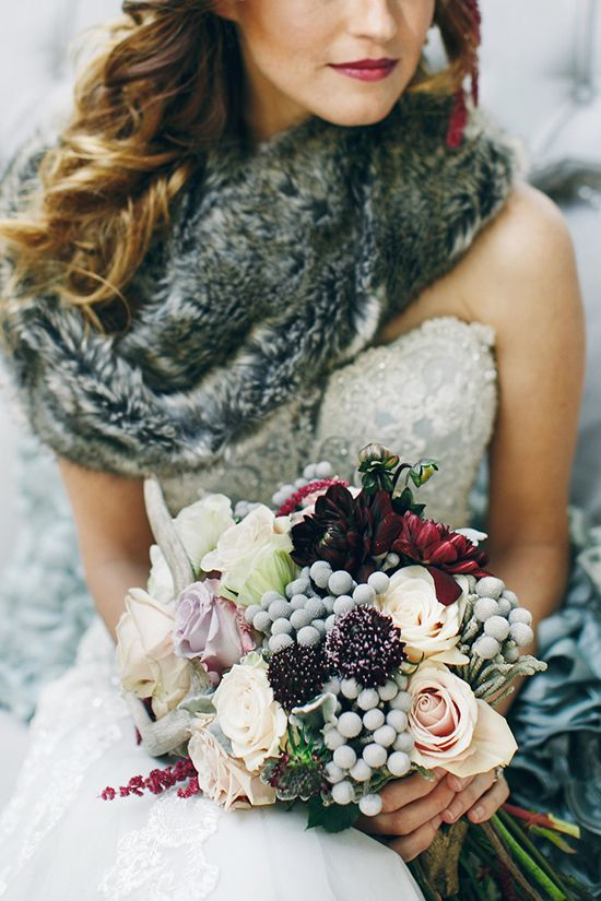 Winter-Wedding-Bouquet-Mixed-Colours-Berries-weddingsonline