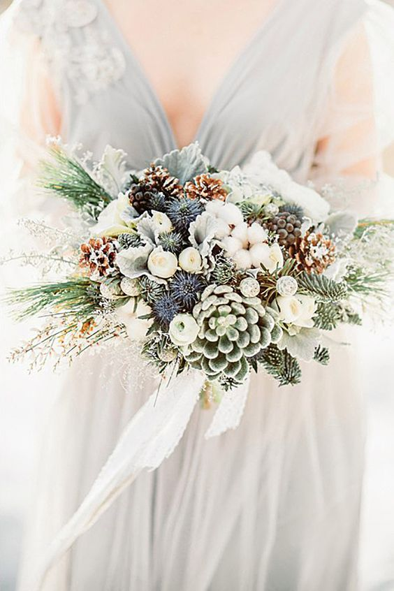 Winter-Wedding-Bouquet-Small-Succulents-weddingsonline