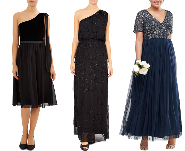 black-and-navy-bridesmaid-dresses