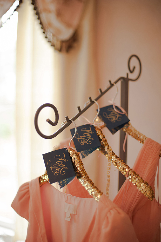 gold-sequin-wedding-hangers-personalised-tags