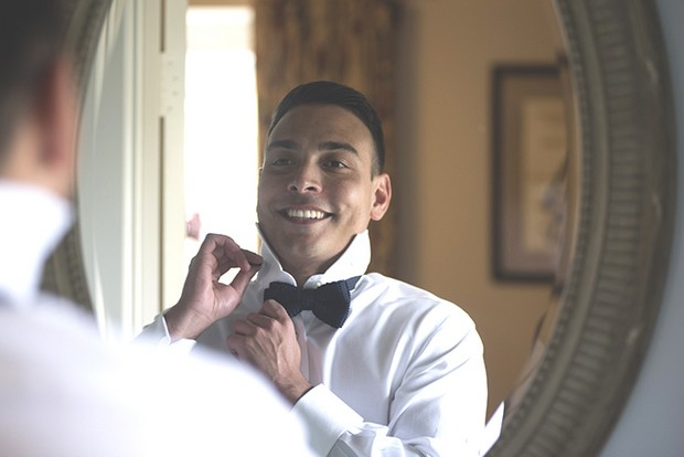 5-Groom-getting-ready-bowtie-wedding-weddingsonline