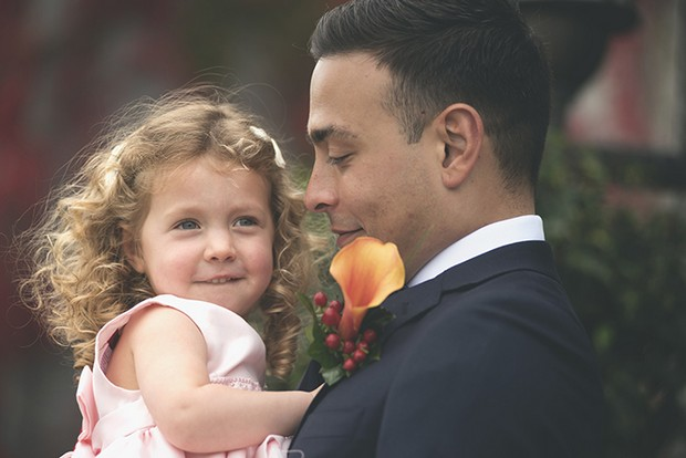 8-Cute-wedding-photo-groom-baby-daughter-weddingsonline