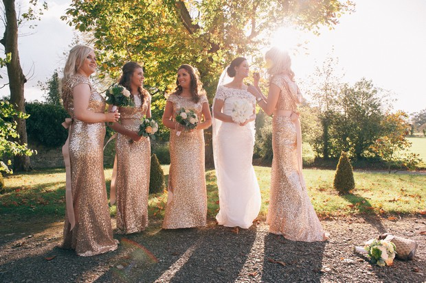 get-the-look-bridesmaids-in-gold-glittery-full-length-dresses