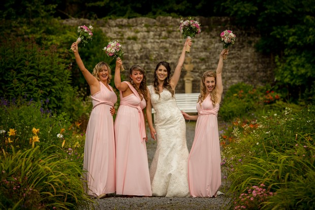 db1f9326d980 The Amazing Multiway as Seen in Juliana & Adam's Lough Ree Wedding. Dresses  L-R: Debut Pink ...