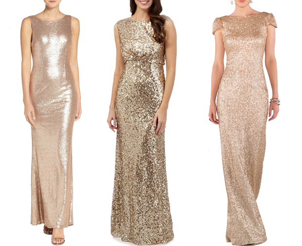 glittery-gold-bridesmaid-dresses