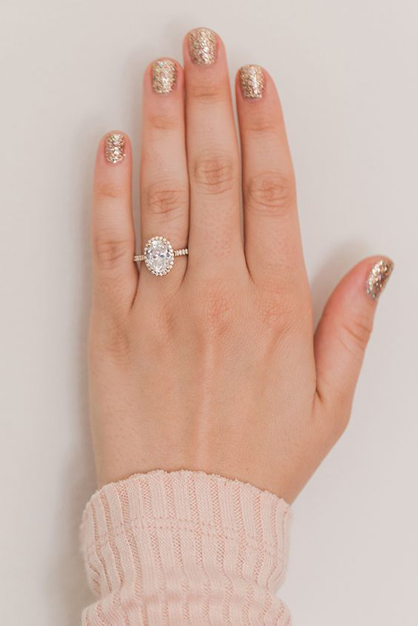 18 Stunning Engagement Manicures To Show Off Your New Ring. Dark Wedding Rings. Ammolite Rings. Jennie Kwon Rings. Artistic Engagement Rings. Blood Engagement Rings. Boyz Rings. Wedding Dress Wedding Rings. Classic Pavé Solitaire Wedding Rings