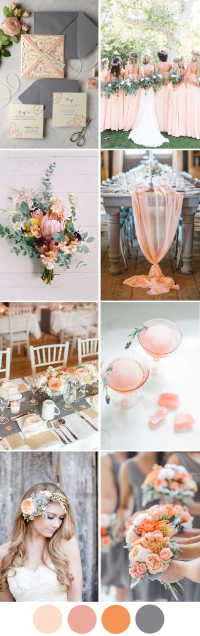 Pretty Grey Peach Wedding Inspiration Summer 2017 Weddingsonline
