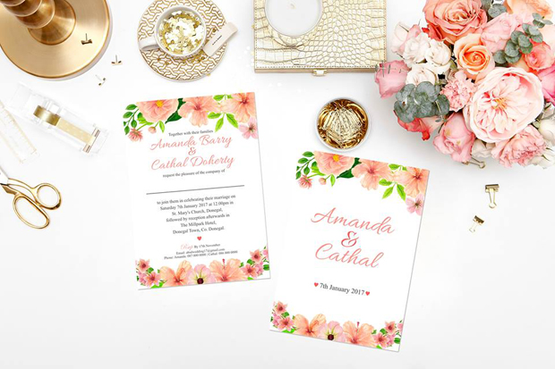 28 Gorgeous Floral Wedding Invitations For Spring/Summer