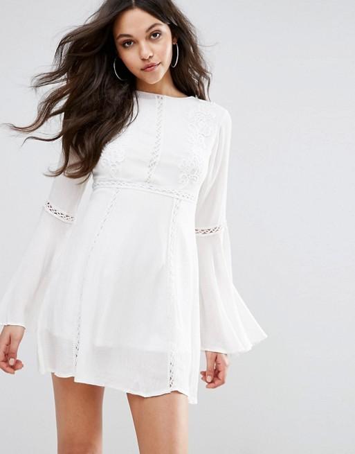 Prettylittlething Crochet Lace Insert Swing Dress 46 67 From Asos