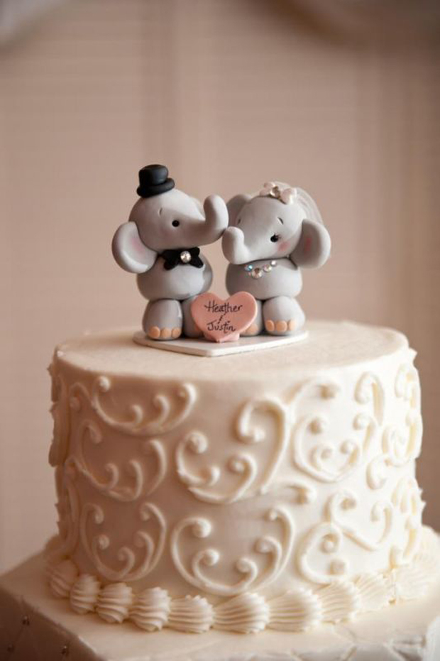 21 Creative Wedding Cake Toppers For The Romantics