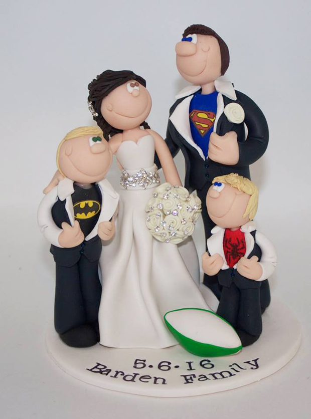 21 creative wedding cake toppers for the romantics weddingsonline family topper cake topper by belle toppers junglespirit Image collections