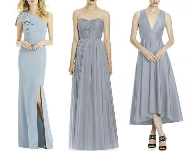 Dresses (L-R): Dessy Collection Bridesmaid Dress 6769 | JY Jenny Yoo ...