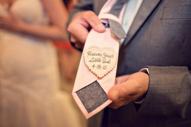 A Surprise Heartfelt Message On His Tie