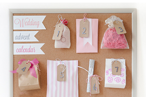 Advent Calendar Ideas Wedding : Things to include in your wedding advent calendar