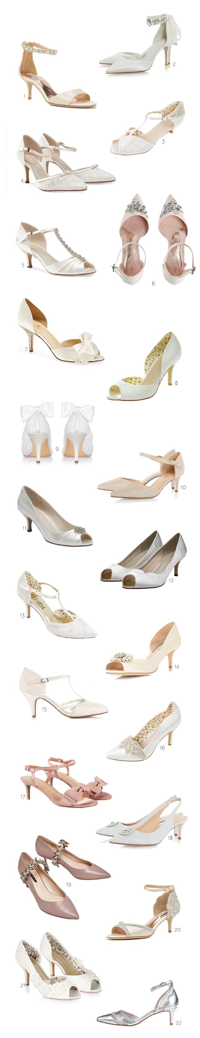 22 Gorgeous Low And Mid Heel Wedding Shoes Weddingsonline