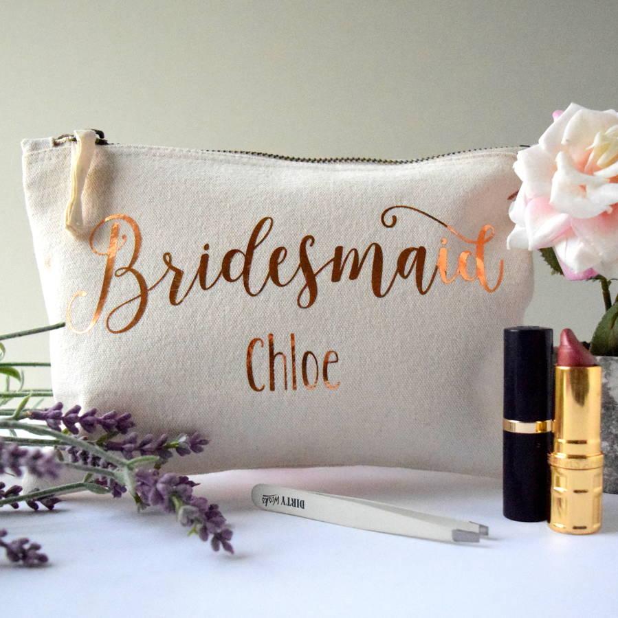 Makeup Bags For Bridesmaids Saubhaya