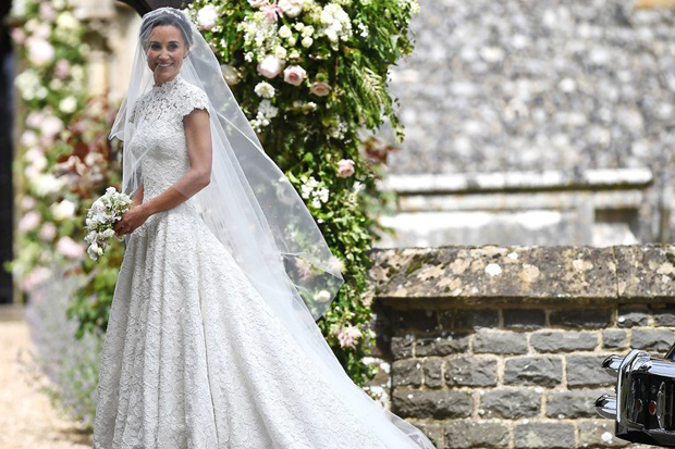 8 Amazing Celebrity Wedding Dresses From 2017