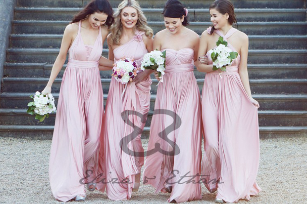 de94665507f This handy number has solved many a bridesmaid dilemma allowing your girls  to twist and style one dress in ...