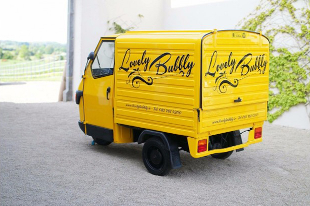 8f08983a52 Serve Bubbly on Tap with the Stylish Lovely Bubbly Prosecco Van