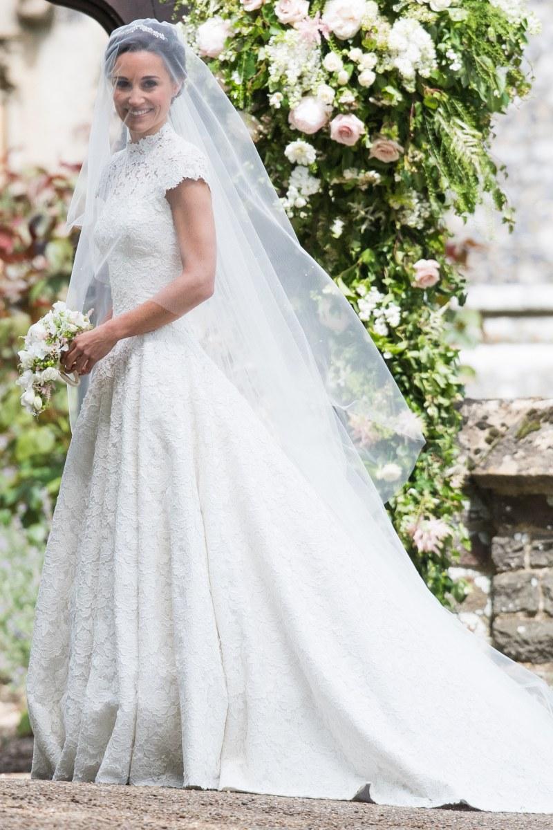 8 Amazing Celebrity Wedding Dresses from 2017 | weddingsonline