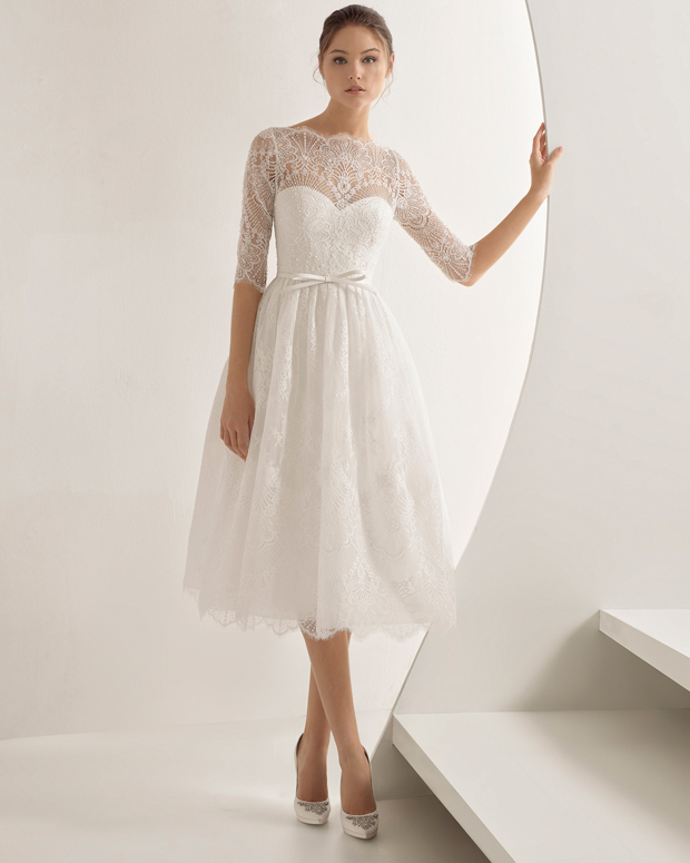 20 Pretty Tea Length Wedding Dresses For 2018 Brides Weddingsonline