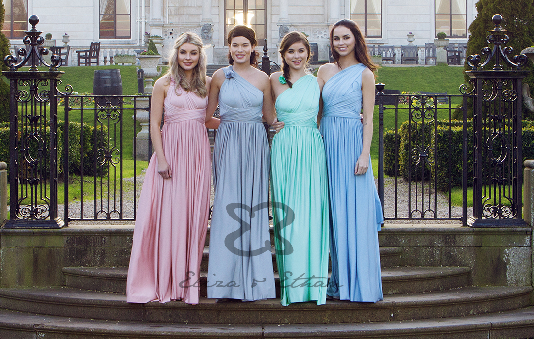 189f93fcdd This handy number has solved many a bridesmaid dilemma allowing your girls  to twist and style one dress in over 25 different ways ...