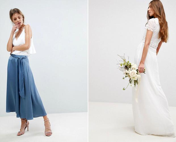 tiendas de la calle y en línea con colecciones de bodas