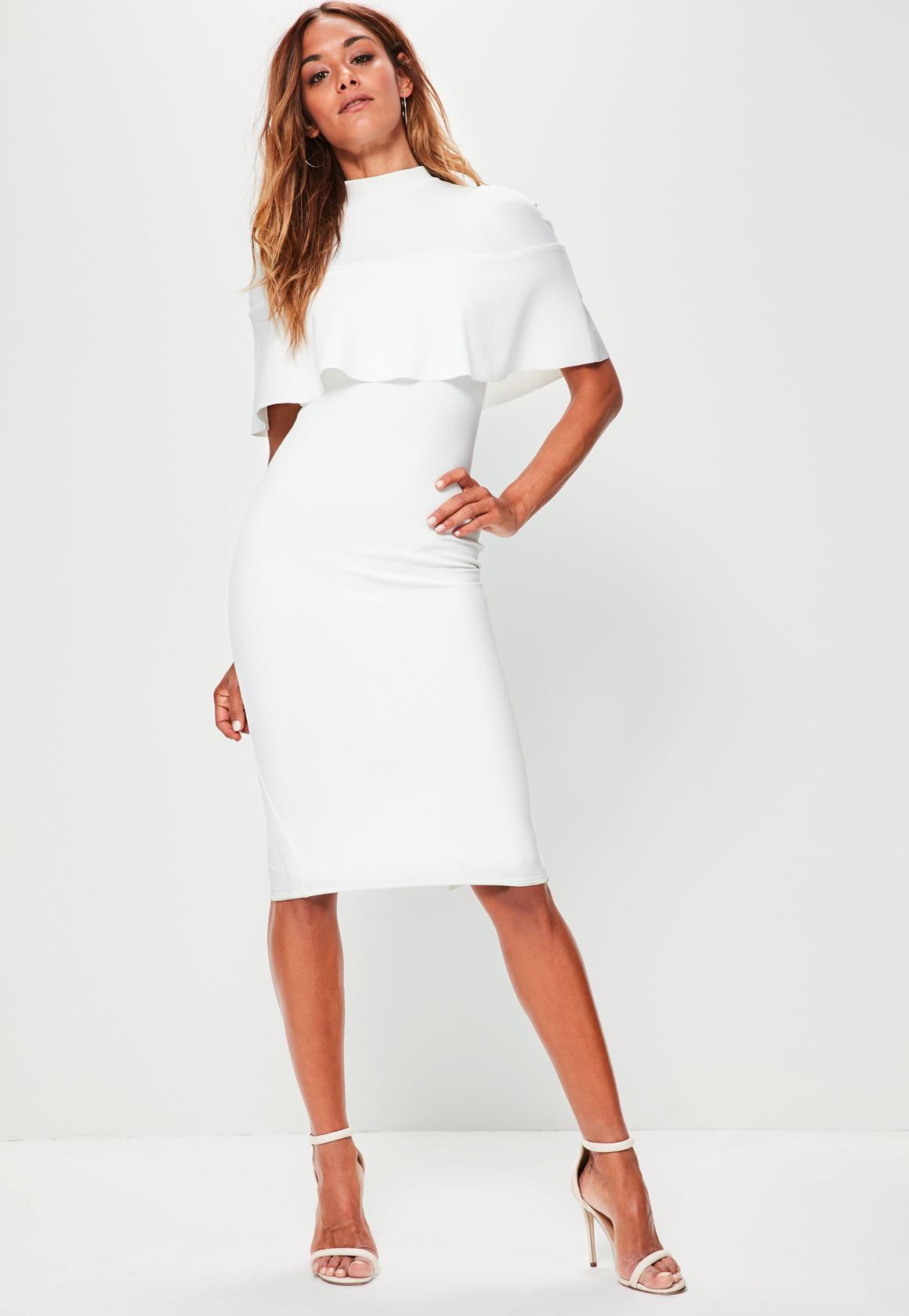 White Frill Overlay Dress 42 From Missgud