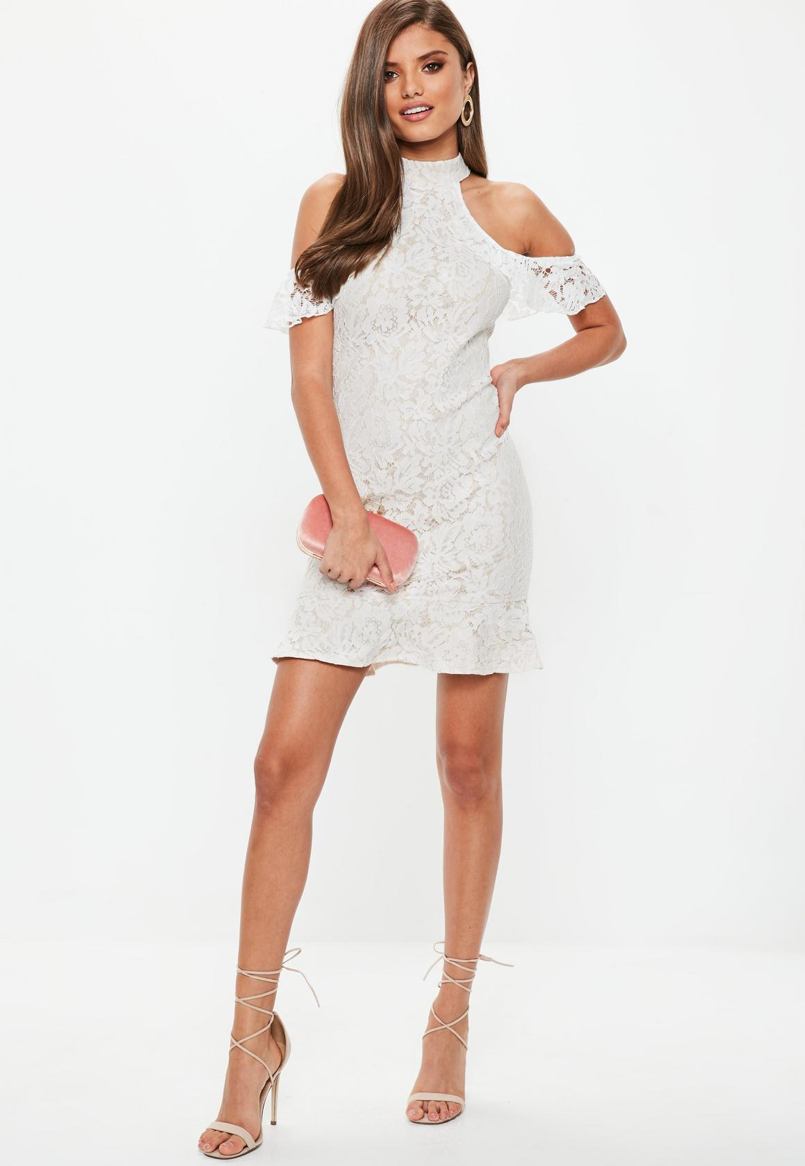 990ade6282 Missguided Blue Short Sleeve Lace Dress - Gomes Weine AG