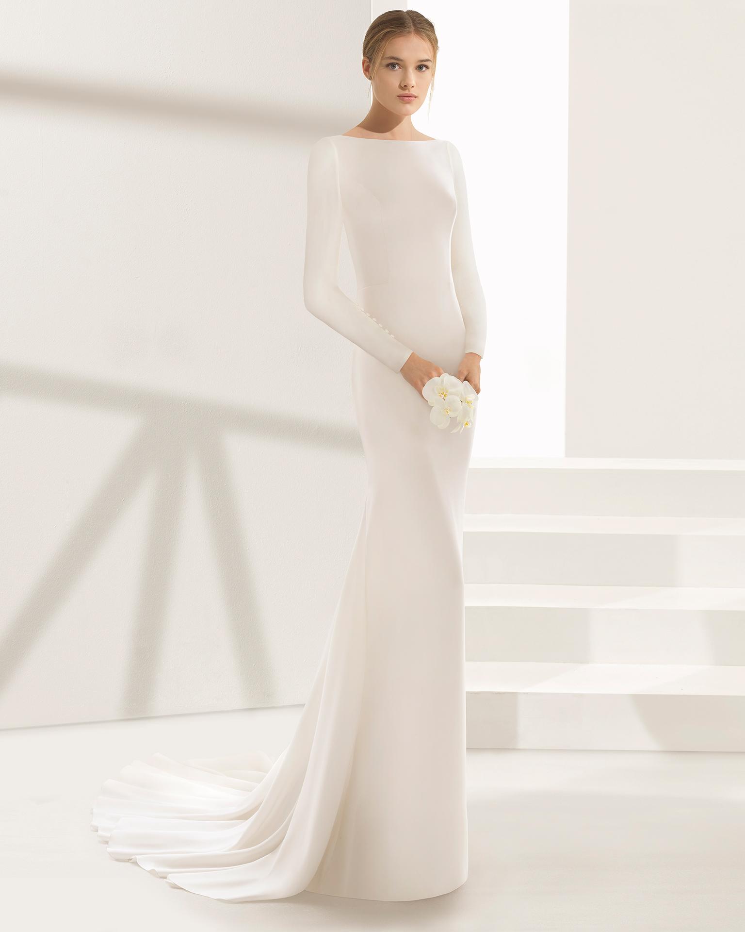 17 Chic, Minimal Wedding Dresses for Modern Brides images 11