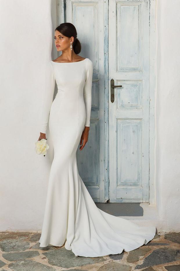 17 Chic, Minimal Wedding Dresses for Modern Brides images 9