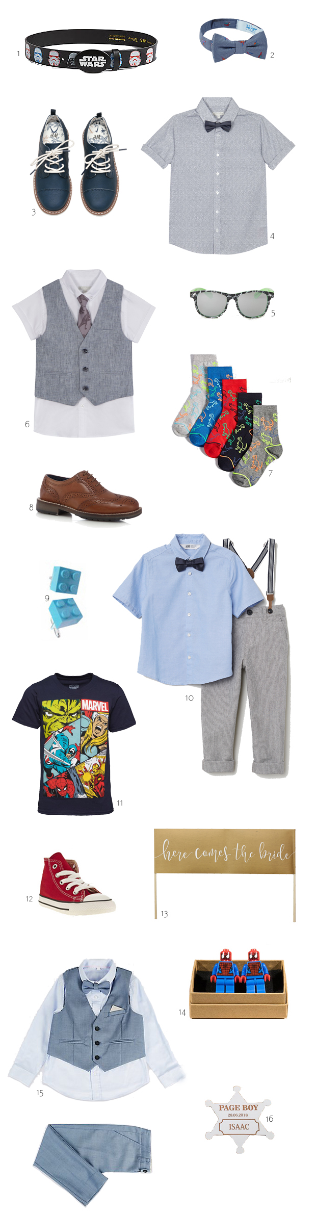 Adorable Outfits & Accessories for Your Page Boy