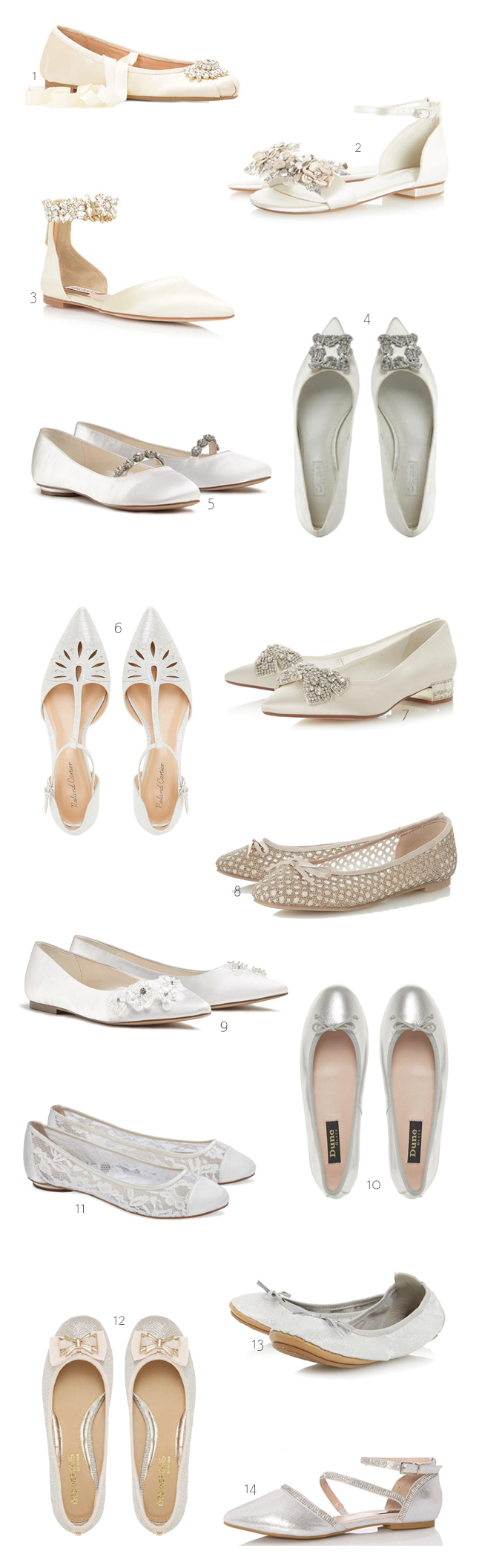 Dancing Shoes: 14 Fabulous Bridal Flats