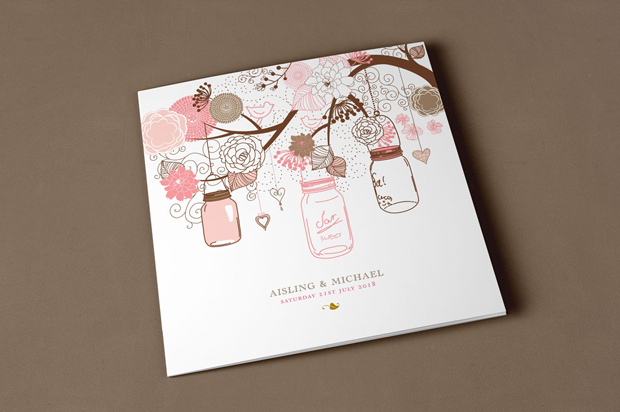 18 Beautifully Illustrated Wedding Invitations images 7