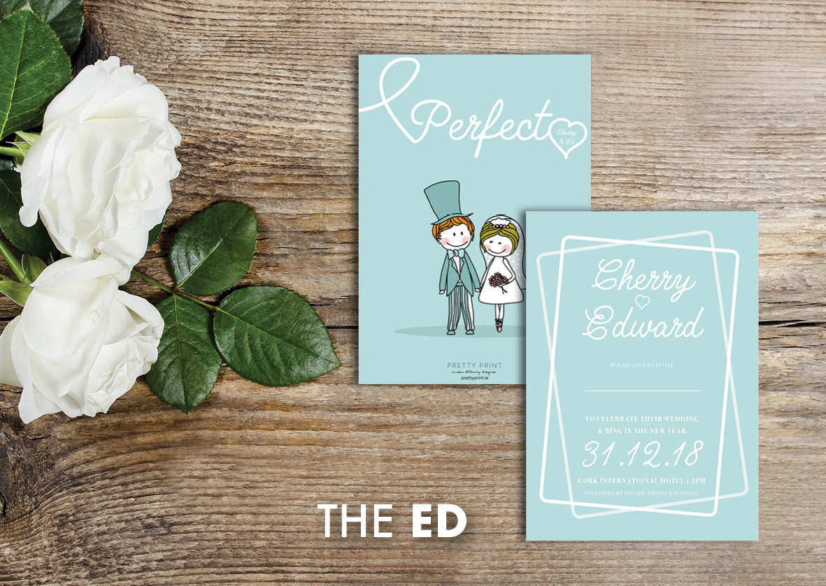 18 Beautifully Illustrated Wedding Invitations images 8