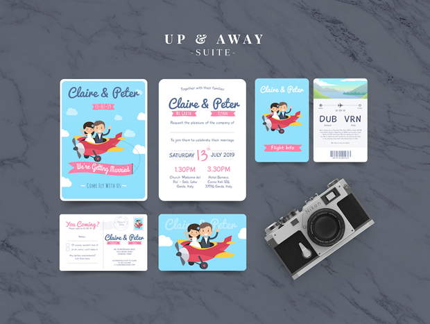 18 Beautifully Illustrated Wedding Invitations images 16