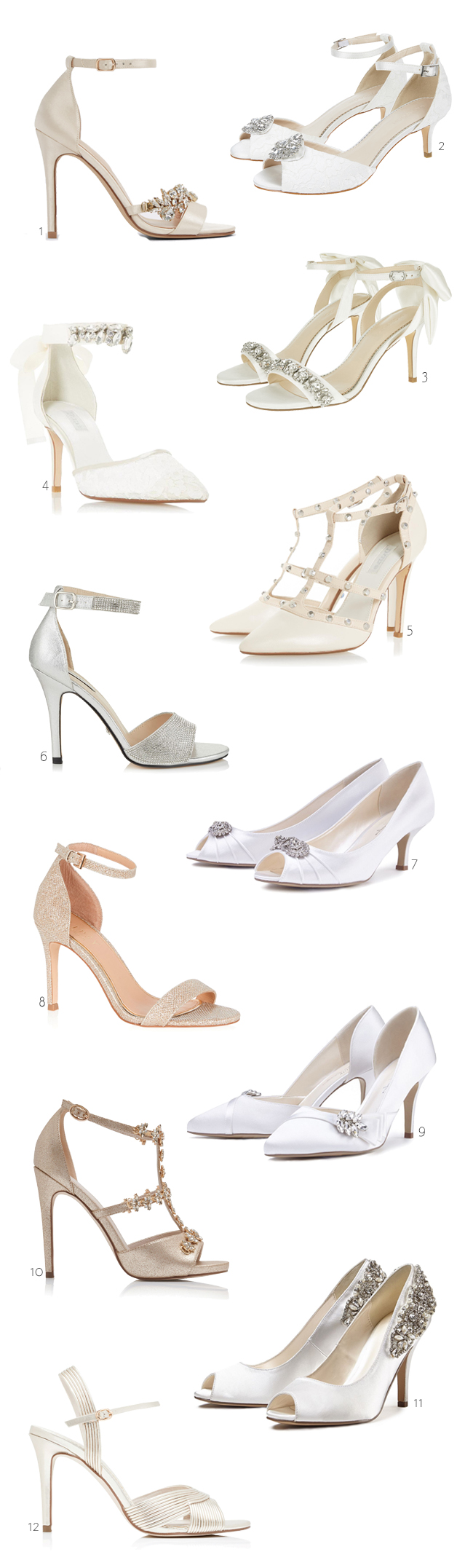 12 Stunning Wedding Shoes Under €100 images 0