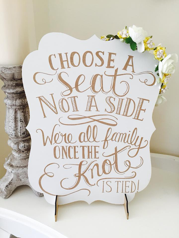 8f1ff0f98 21 Stylish Wedding Signs You Can Buy Online
