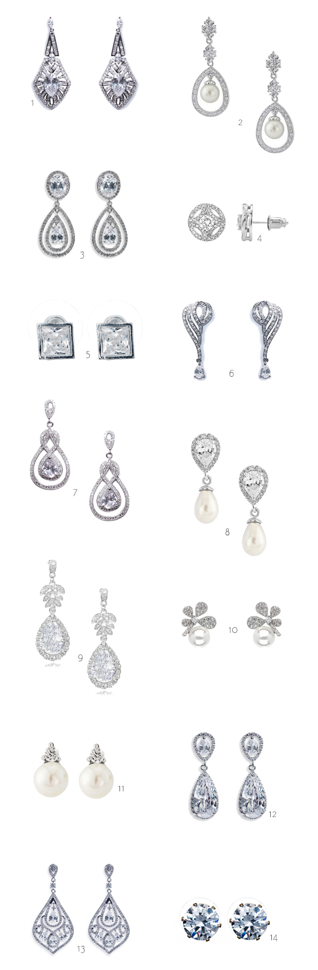 14 Beautiful Earrings for Brides