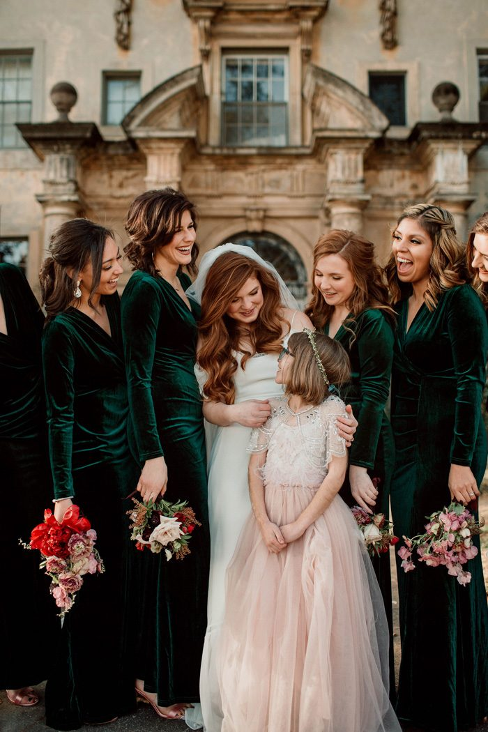 123f6819a5b0 15 Chic   Cosy Ideas for Stylish Winter Bridesmaids