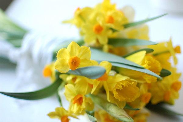 DIY Daffodil Wedding Bouquet