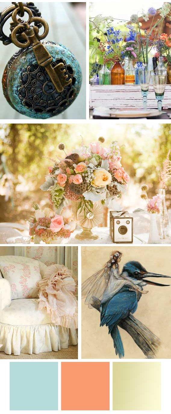 pretty as a picture wedding mood board