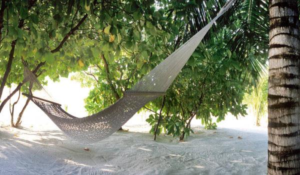 relaxing in Mauritius