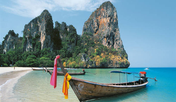 World famous beach in Thailand