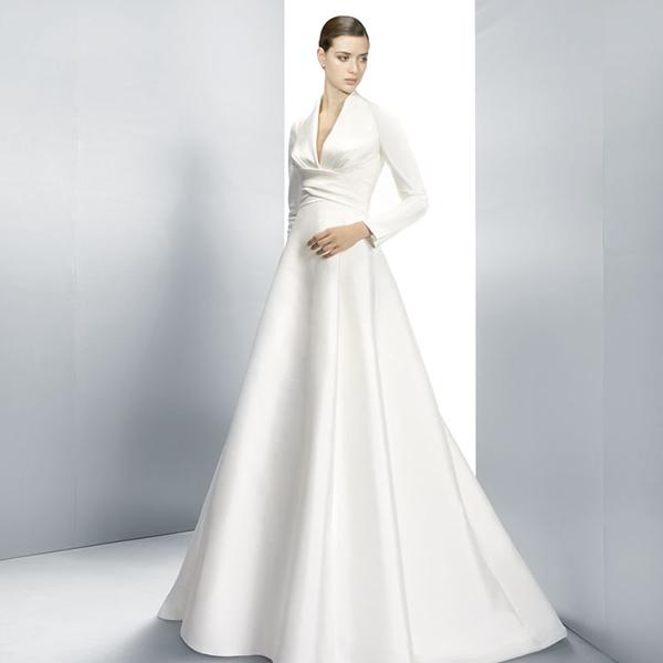Vestido de novia de manga larga Jesus Peiro
