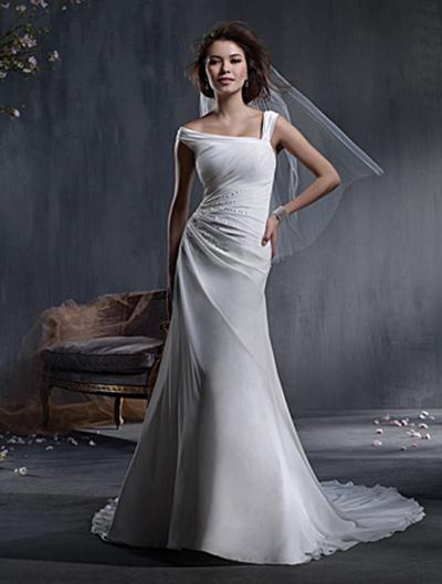 Vestido de novia de gasa Alfred Angelo