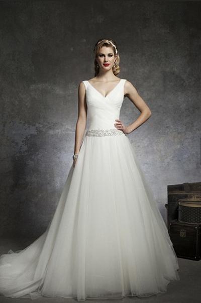 Vestido de novia de tul de Justin Alexander