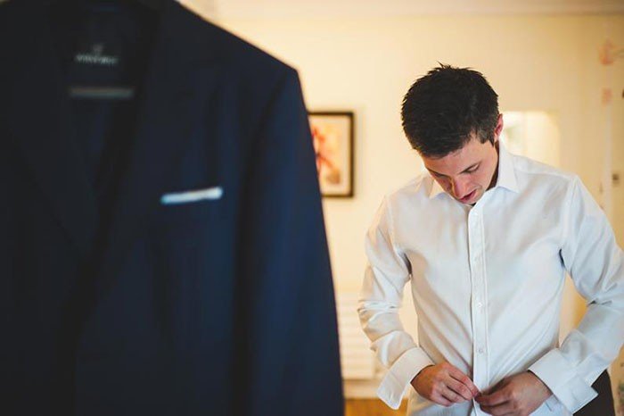 Colin getting ready