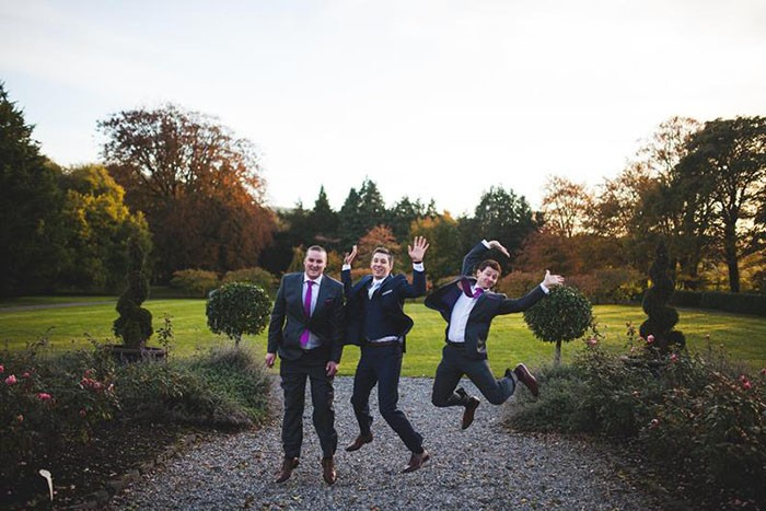 happy grooms party